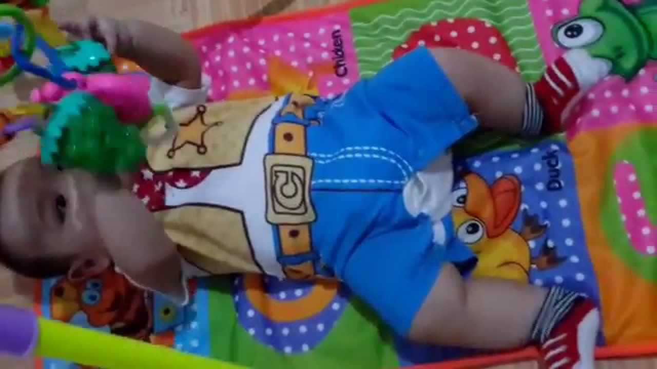 Jenis Mainan Bayi 6-12 Bulan Baby Activity Play Gym - YouTube 62fb4be2bc