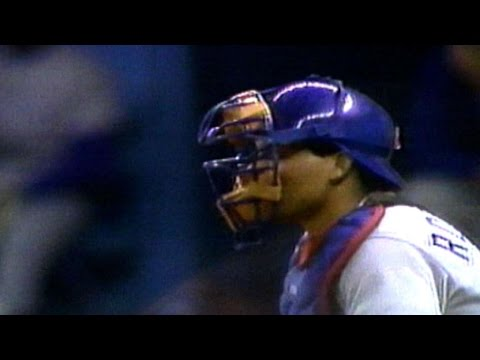 Pudge catches Griffey stealing second