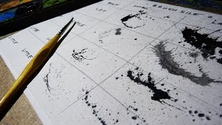 How To Splatter with Watercolor - Tutorial - Basics