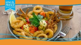 Calamari Appetizer with Fried Spinach