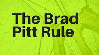The Brad Pitt Rule In Action | online dating tips for men | pof secrets | tinder help