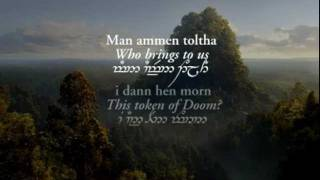Repeat youtube video Lothlórien (with Quenya and Sindarin lyrics in Tengwar) - Lord of the Rings: Fellowship Of The Ring