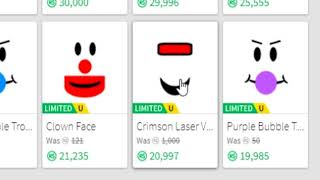 buying an expensive roblox face