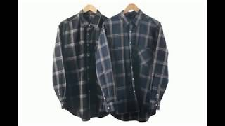 남녀공용 커플셔츠 오버핏 체크남방 진스타일