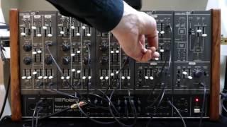 roland system 100m vintage analogue modular synthesizer
