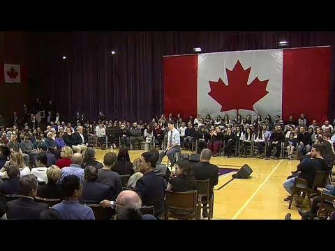 Trudeau town hall tour stops in London