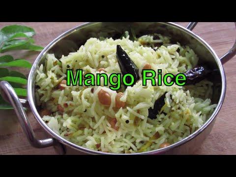 Mango Rice - Indian Style Raw Mango Rice Recipe - Mamidikaya Pulihora - Mango Recipes | Nisa Homey