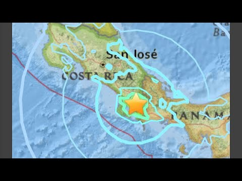 COSTA RICA EARTHQUAKE 6.0 mag TEMBLOR STRIKES NEAR PANAMA BORDER.