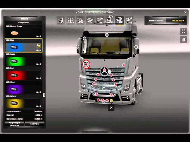 ETS2 Actros mp4 tuning