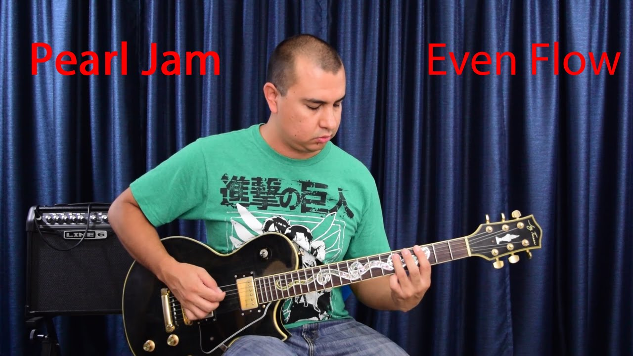 Pearl Jam Even Flow Guitar Lesson Youtube