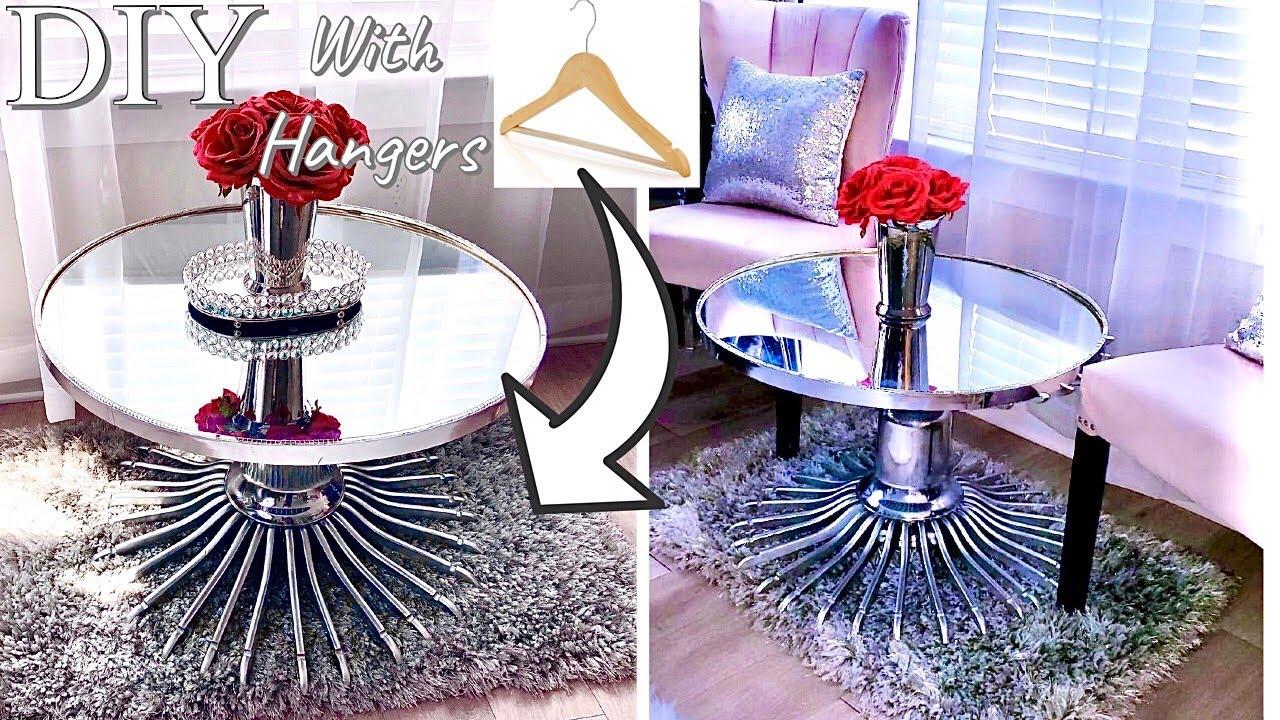 HOW TO USE HANGERS TO MAKE DIY TABLE| DIY SHOE RACK| DIY ROOM DECOR ON A BUDGET!