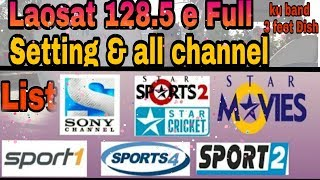 v2Movie : LAOSAT 128 SETTING & CHANNELS  FREE DISH TIPS AND TRICKS
