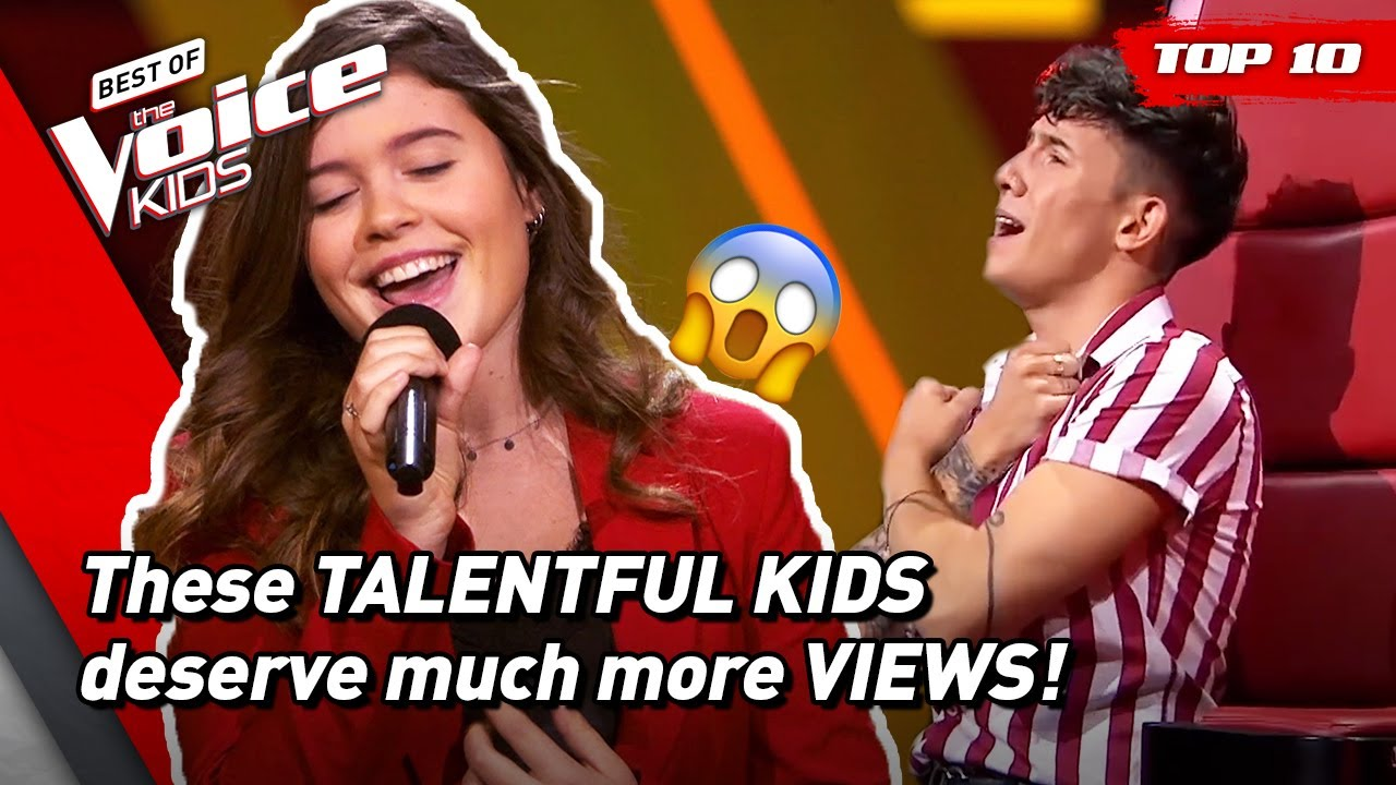 The most BEAUTIFUL but UNDERRATED Blind Auditions in The Voice Kids! 😱 | Top 10