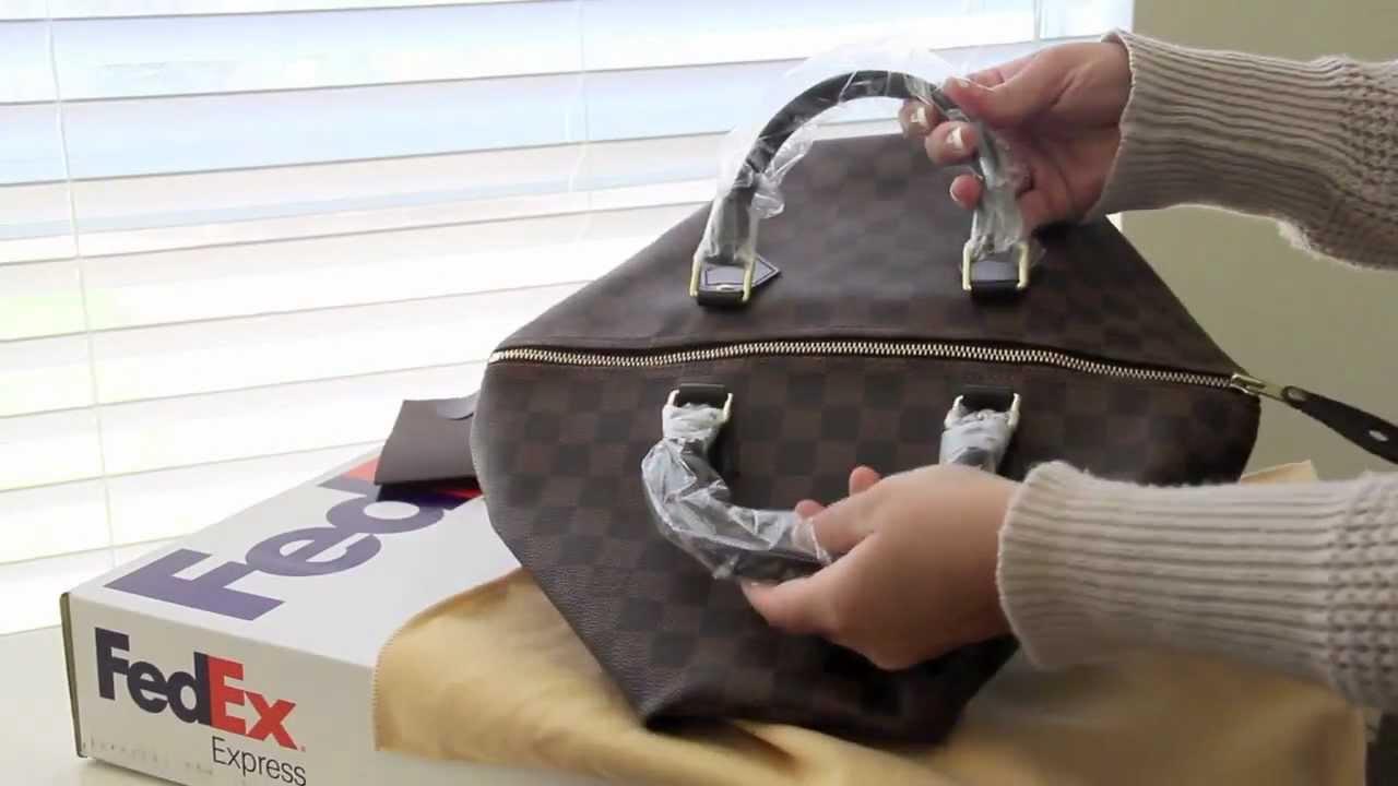 dbc8d8f794c3 Louis Vuitton Speedy 35 Damier Ebene Repaired - YouTube