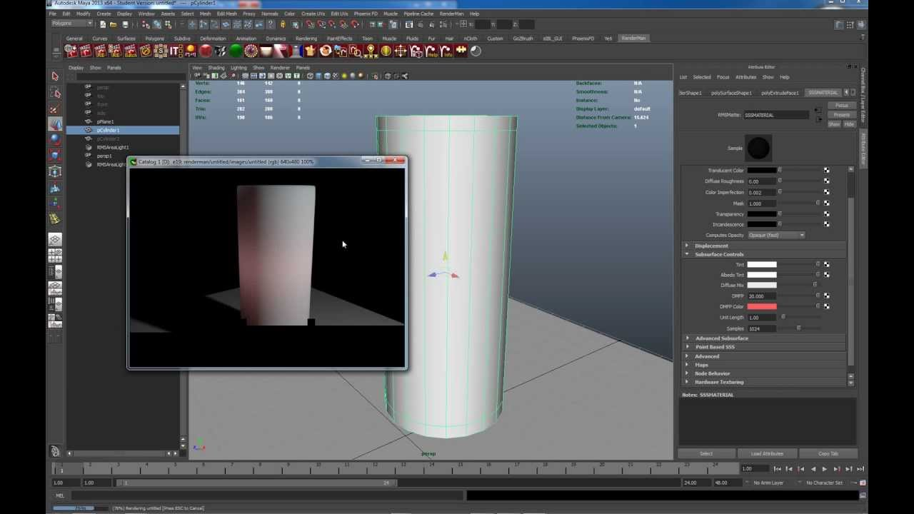 7_Intro to Renderman Subsurface Scattering