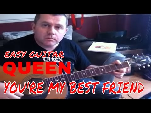 You're My Best Friend - Queen - acoustic guitar tutorial