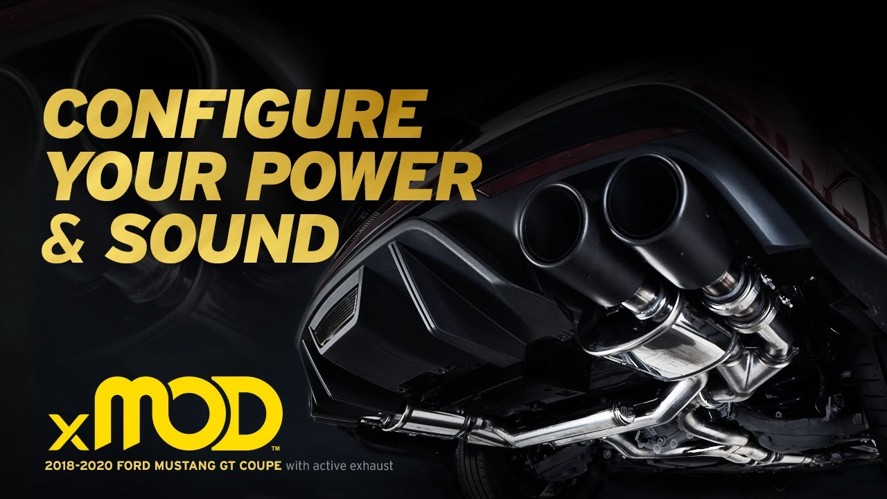 hear the sound with active exhaust 2018 2020 magnaflow ford mustang gt xmod series exhaust