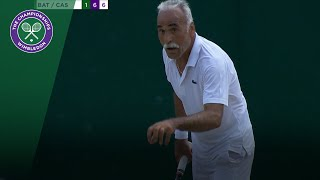 Mansour Bahrami plays funny phantom point in men's doubles | Wimbledon 2018