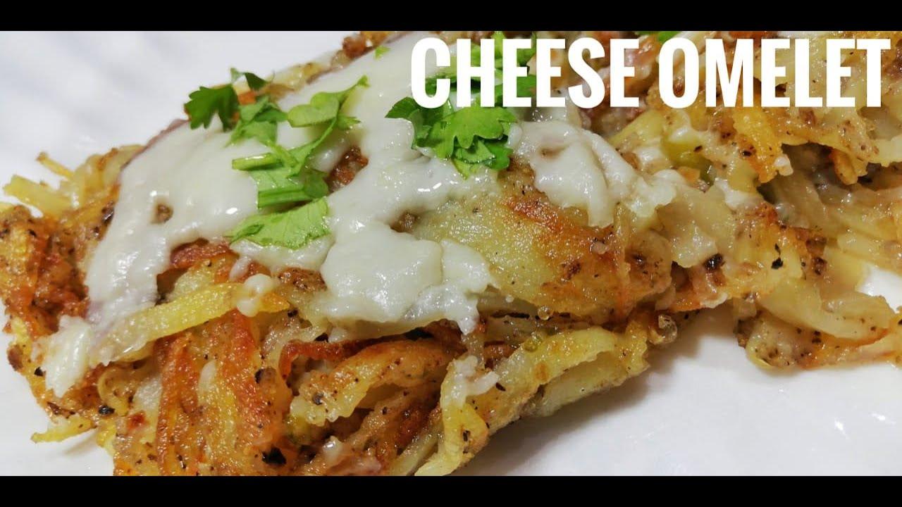Cheese potato Omelette recipe (pizza type) in urdu by ...