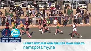 WHK Gym vs Gobabis Gym U/12| 26 July 2019 Full Game | Capricorn Super League Netball Finals