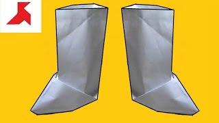 Как сделать сапог из бумаги А4?(Белые оригами сапоги, сделанные своими руками по инструкции из листа бумаги формата А4. Готовый бумажный..., 2016-08-25T23:53:25.000Z)