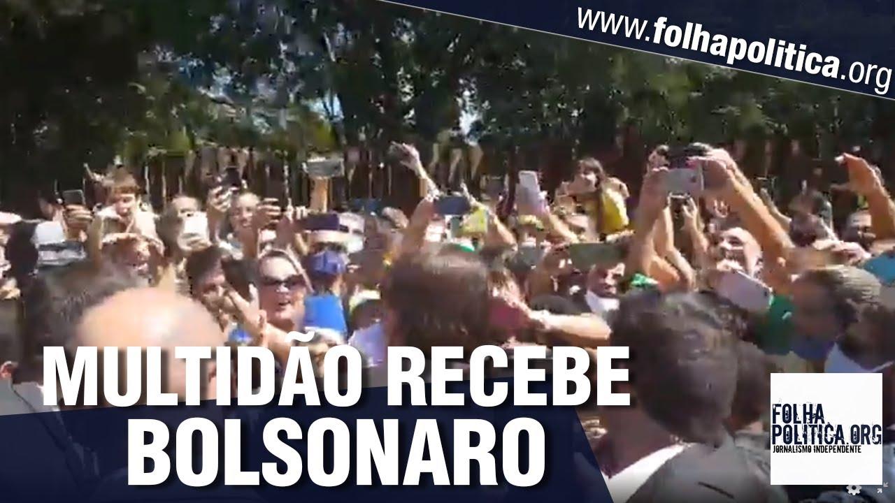 Multidão impressionante se posiciona ao longo do trajeto do presidente Jair Bolsonaro em Ipatinga