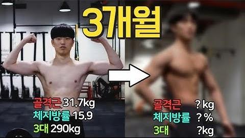 내츄럴 상태에서 3개월 운동! 근육 체지방률 3대 얼마나 변했을까요?  [트리거15초]