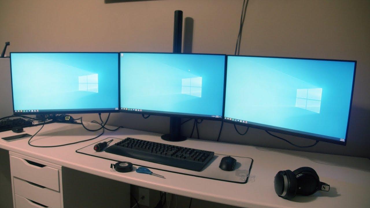 - ECHOGEAR Triple Monitor Desk Mount - Tech4Review