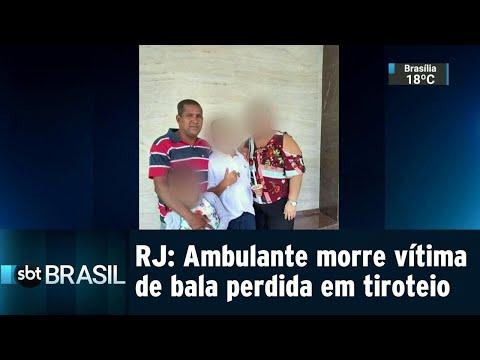 Homem morre atingido por bala perdida durante tiroteio em Manguinhos | SBT Brasil (21/07/18)