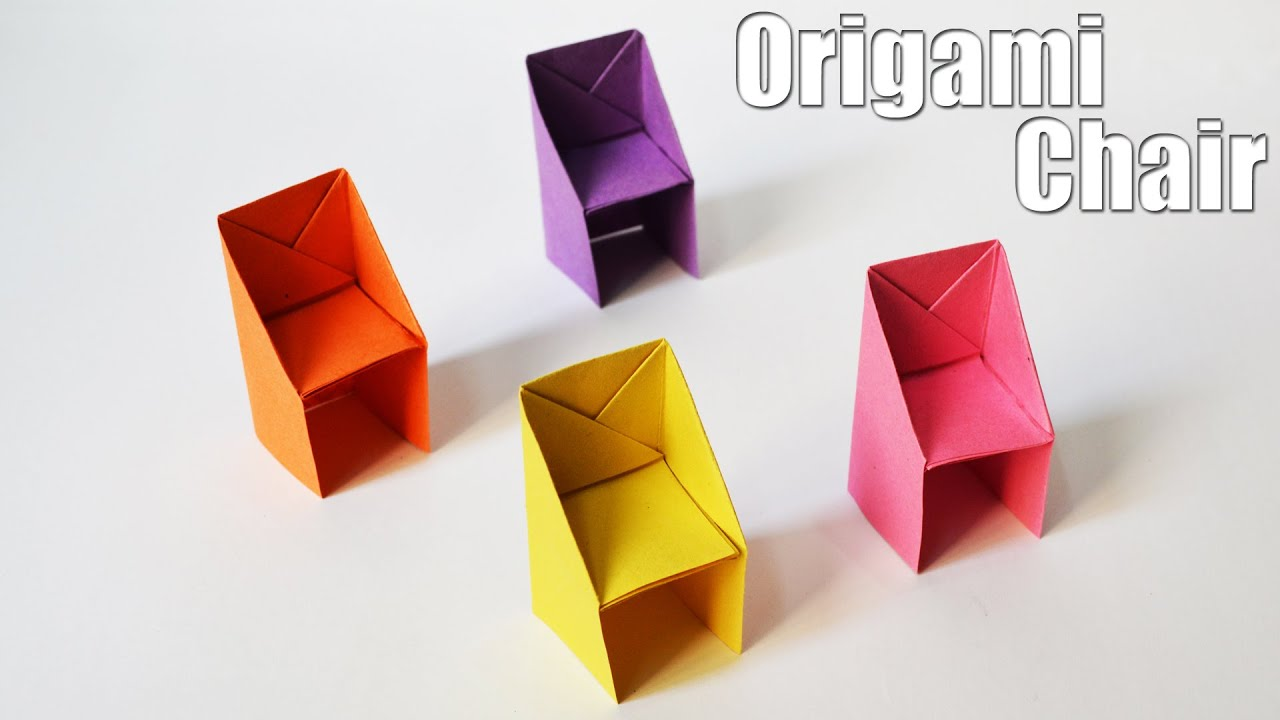 How to make an Origami Chair   Easy   Tutorial - YouTube