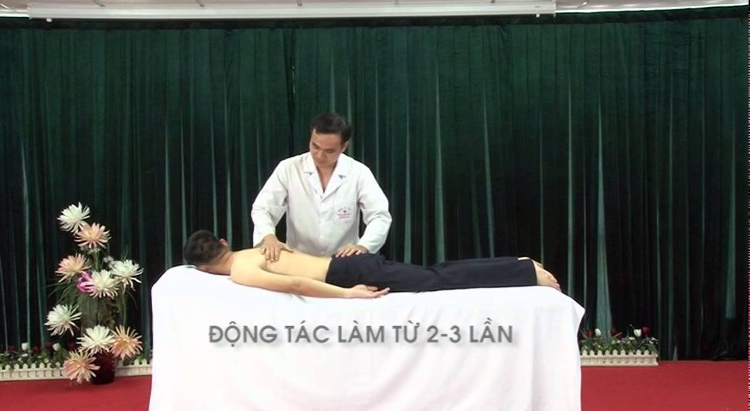 Hướng dẫn xoa bóp bấm huyệt chữa bệnh đau lưng và thoái hoá cột sống thắt lưng