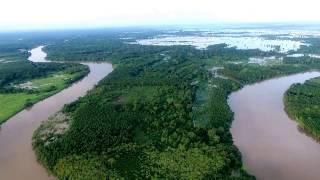 Video Udara Kawasan Sungai Ogan, Desa Ulak Kembahang