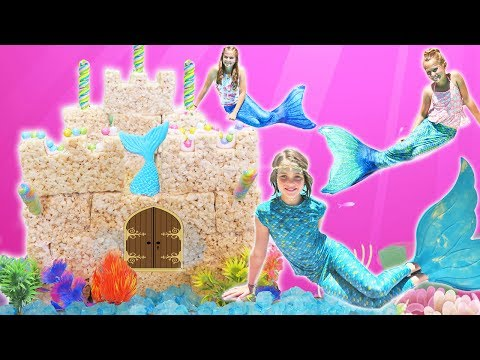 Thumbnail: Real Mermaid Swimming Pool Party | Chef Ava How to Make Rice Krispy Castle: Kids Cooking and Crafts