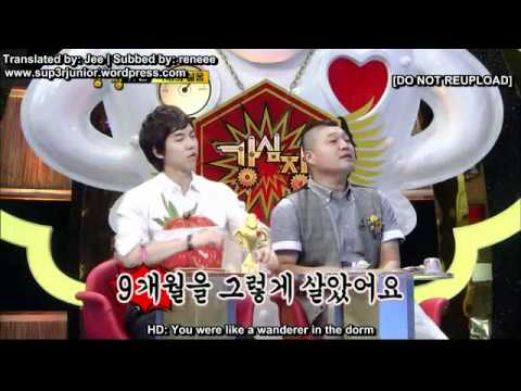 Strong Heart - Sadness of Kyuhyun & with Leeteuk's relationship (Eng Sub)