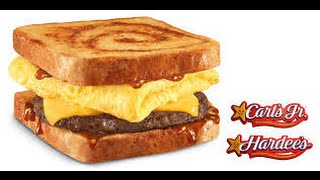 Hardee's/carl's Jr Cinnamon Swirl French Toast Breakfast Sandwich With Bacon
