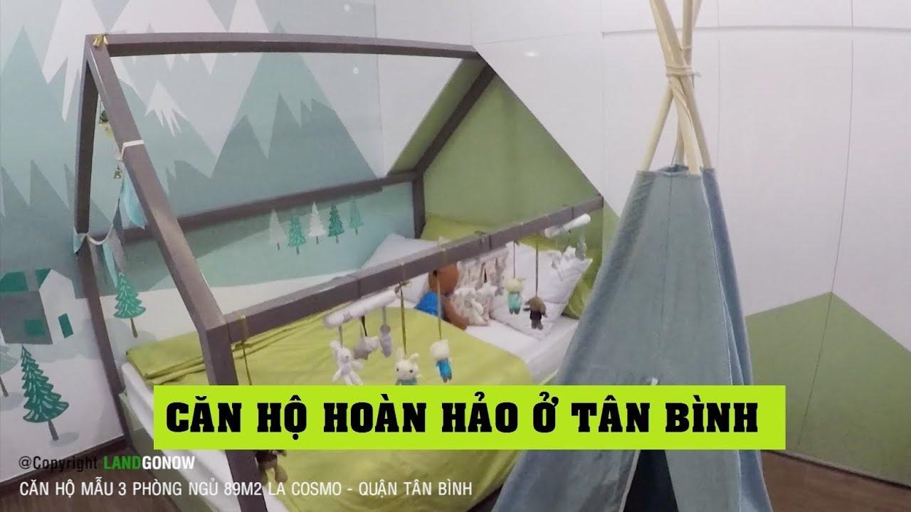 Căn hộ La Cosmo Tân Bình, 3 phòng ngủ 89m2 mẫu- Land Go Now ✔