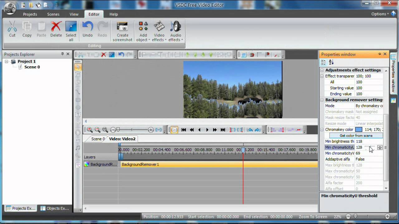 VSDC Video Editor, Chroma Key Fine Adjustment - YouTube