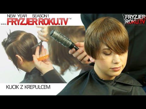 Damskie krotkie strzyzenie.  How to style short hair FryzjerRoku.tv
