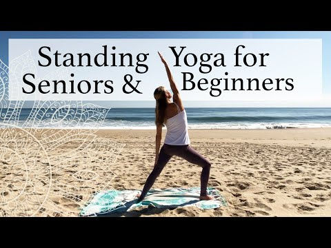 STANDING YOGA FOR SENIORS & BEGINNERS - Gentle standing poses to the sounds of the waves