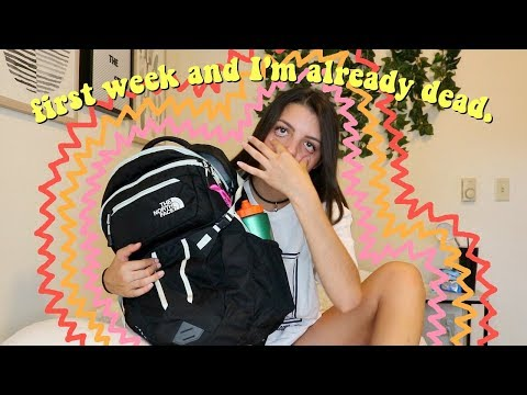 my second day of college because I was too lazy to vlog the first day