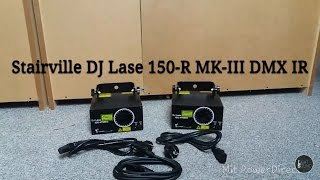 Unboxing Thomann Stairville DJ Lase 150-R MK-III DMX IR