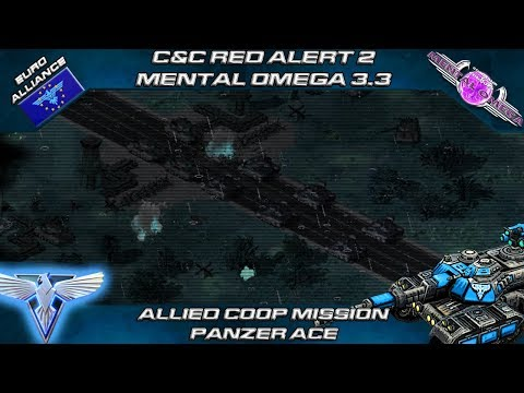 Mental Omega 3.3 Red Alert 2 Act II - Allied Coop Mission Panzer Ace