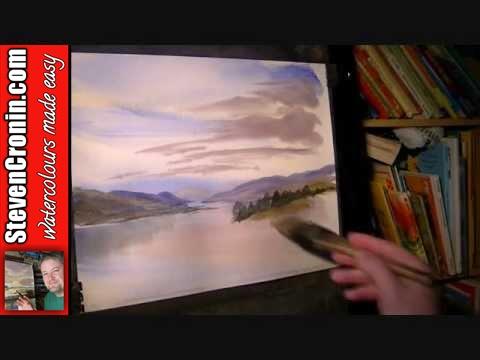 Nr Ladder Hills, Cairngorm Mountains Watercolour Landscape Painting Demo