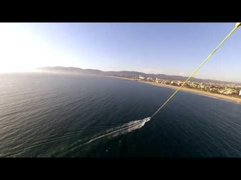 Parasailing in Los Angeles at Marina del Rey