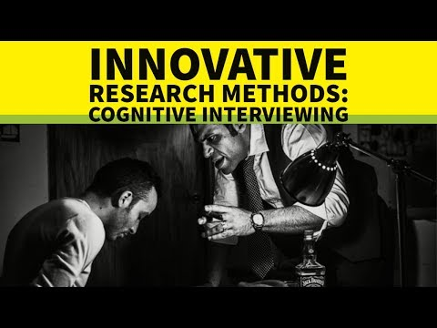 Qualitative interview - the cognitive interviewing method