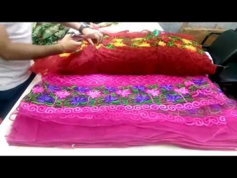 textile market surat | होलसेल कपड़ा मार्केट सूरत | Heavy Net Embroidery Fabrics