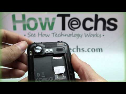 HTC Incredible S: Inserting the SIM Card
