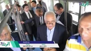 شاهد.. وزير النقل يُفاجئ محطة سكة حديد طنطا