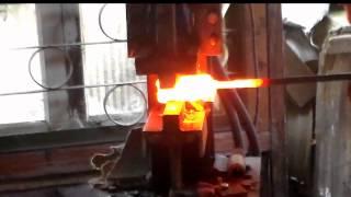 Ковка дамасского клинка/Damascus steel forging
