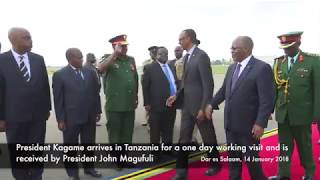 President Kagame arrives in Tanzania for a one day working visit